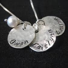 mothers necklace sted necklace three personalized mothers