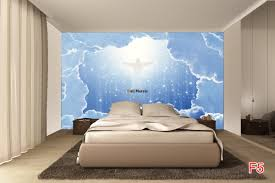 murals space abstraction with clouds and jesus wall murals space abstraction with clouds and jesus