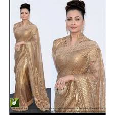 golden blouse replica aishwrya in golden bridal saree blouse buy