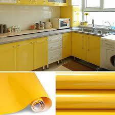 selbstklebende folie k che kinlo selbstklebende folie küche gelb 61x500cm tapeten küche aus