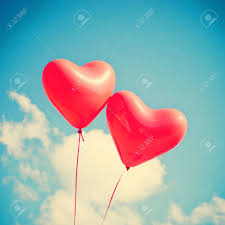 heart shaped balloons two heart shaped balloons stock photo picture and royalty