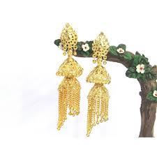 jhumki earring golden tilak jhumki earring smc bazaar