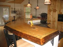 awesome rustic wood slab bar top interior design wanted