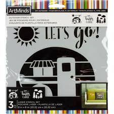 buy the happy camper outdoor laser stencils by artminds at michaels