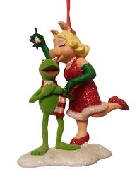 ornament miss piggy and kermit the frog muppets