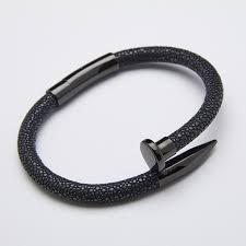 best bl aliexpress com buy luxury stingray nail bracelet men fashion