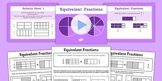 3 equivalent fractions powerpoint with worksheets