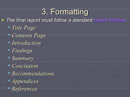 assignment report template formal report assignment