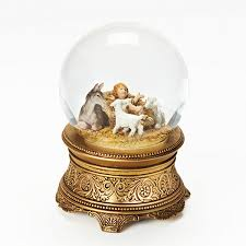 fontanini with animals musical snow globe jcpenney