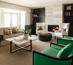 wingback chairs living room transitional with black and white