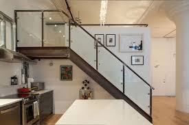 Kitchen Stairs Design Marvelous Industrial Style Stairs Metal Framed And Side Glass