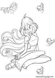 blooming bloom winx club coloring pages printable
