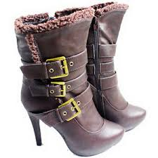 ebay womens ankle boots size 9 womens ankle boots 5 high heel twisted buckle size 6 5 9