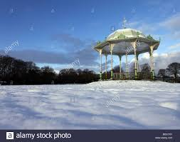 the victorian traditional bandstand in duthie park in aberdeen