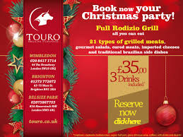 book now your christmas party touro brazilian steakhouse