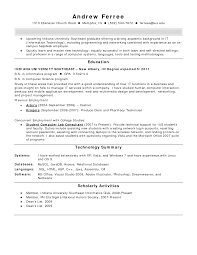 Hvac Technician Resume Examples It Technician Resume Sample Pdf
