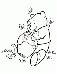 brilliant cute baby winnie the pooh coloring pages with winnie the