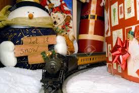 train for under christmas tree christmas lights decoration