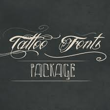 download our new tattoo fonts package from picsart shop now