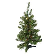 3 ft pre lit two tone pine artificial tree