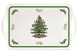spode tree melamine serving tray with