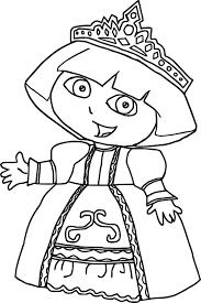 princess dora coloring page