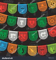 mexican decoration viva mexico live stock vector 216556930