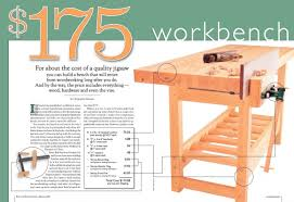Free Plans Building Wood Workbench by Free Workbench Plans U2013 The 175 Homemade Workbench Do It