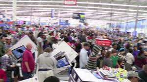thanksgiving day shopping wal mart preps for black friday video business news