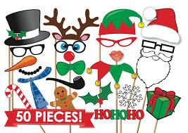 christmas photo booth props christmas photobooth props party set 50 printable