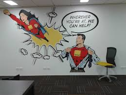 mural artist pop art murals pop art murals corporate art designed to brighten up the working day of the staff at yellow pages fun to do