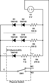 circuit design wiring leds in parallel with 5 pin led on off