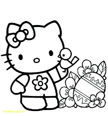 good hello kitty coloring pages with color and easter printable