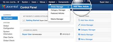 Articles How To Create A Joomla Article Page