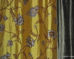 Silk Dupioni Curtains Custom Drapes Indian Curtains Sheer Drapes Window Drapes