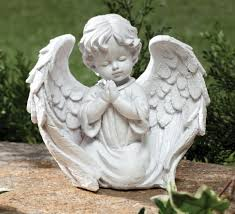 amazon com cherub garden statue garden u0026 outdoor