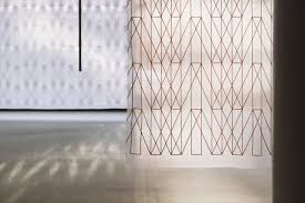 Geometric Pattern Curtains Bouroullec S Embroider Geometric Patterns Onto Translucent Kvadrat