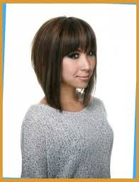 a line feathered bob hairstyles a line bob haircut with bangs love the cut hair pinterest