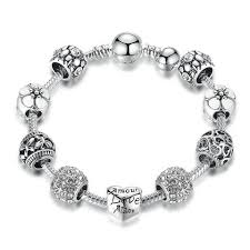 silver plated charm bracelet images Antique silver plated charm bracelet bangle with love and flower jpg