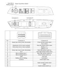 kia sorento power door mirror switch circuit diagram power door