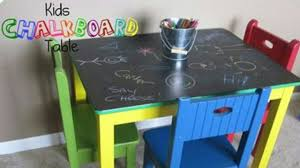 chalkboard table thrift store diy chalk table art diy craft