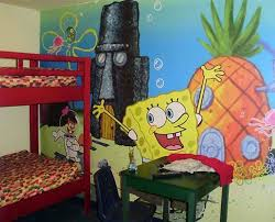 Theme Decoration by Spongebob Wallpaper Art Theme Decoration For Teenage Bedroom