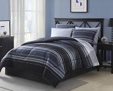 Black And Blue Bedding Sets Striped Comforters And Bedding Set Ebay