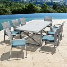 Grey Wicker Patio Furniture by Corvus Martinka 7 Piece Grey Wicker Patio Dining Set Free