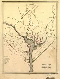 Maps Of Washington by 1835 Map Of Washington D C Ghosts Of Dc