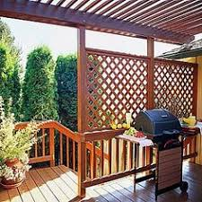 Backyard Privacy Screen by Outdoor Privacy Panels And Privacy Screens Redwood Lattice