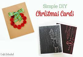 christmas cards ideas diy christmas card ideas simple crafts unleashed