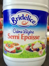 cuisine legere crème légère semi epaisse bridélice 25 cl