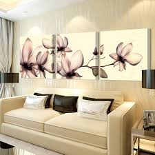 online get cheap wall painting murals aliexpress com alibaba group 3ps no frame yellow orchid pictures painting canvas on the wall of the living room wall module painting mural art cuadros poster