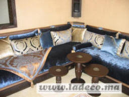 tissu canapé marocain salon marocain moderne